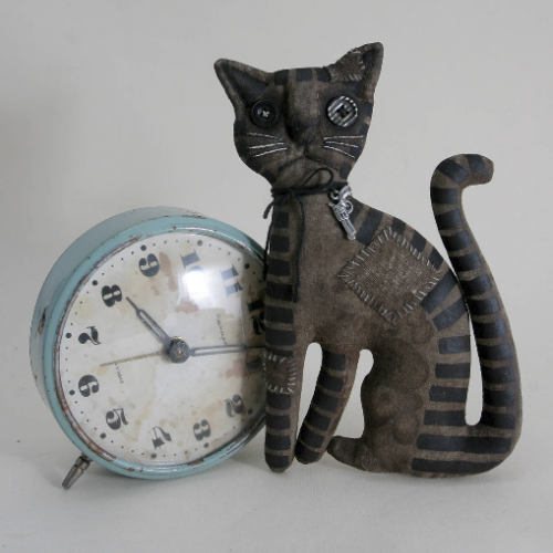 Primitive Doll Striped Cat