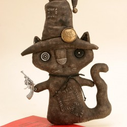 Halloween Primitive Black Cat