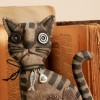 Primitive Brown Striped Cat