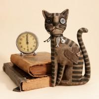 Primitive Brown Striped Cat