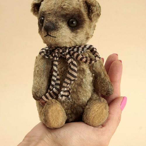 Blue Antique Plush Teddy Bear